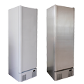 Upright Service Cabinets - White and Stainless Steel